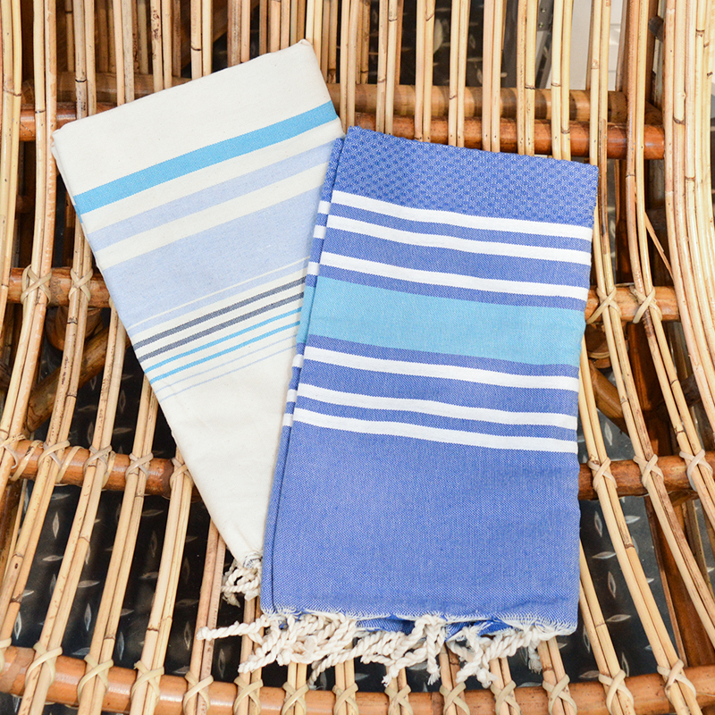 Fouta rayures tricolore