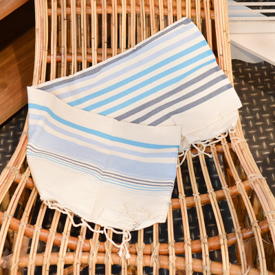 Fouta rayures tricolore (3)