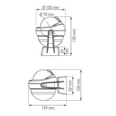 Compas Offshore sans éclairage 75 sur étrier (3)
