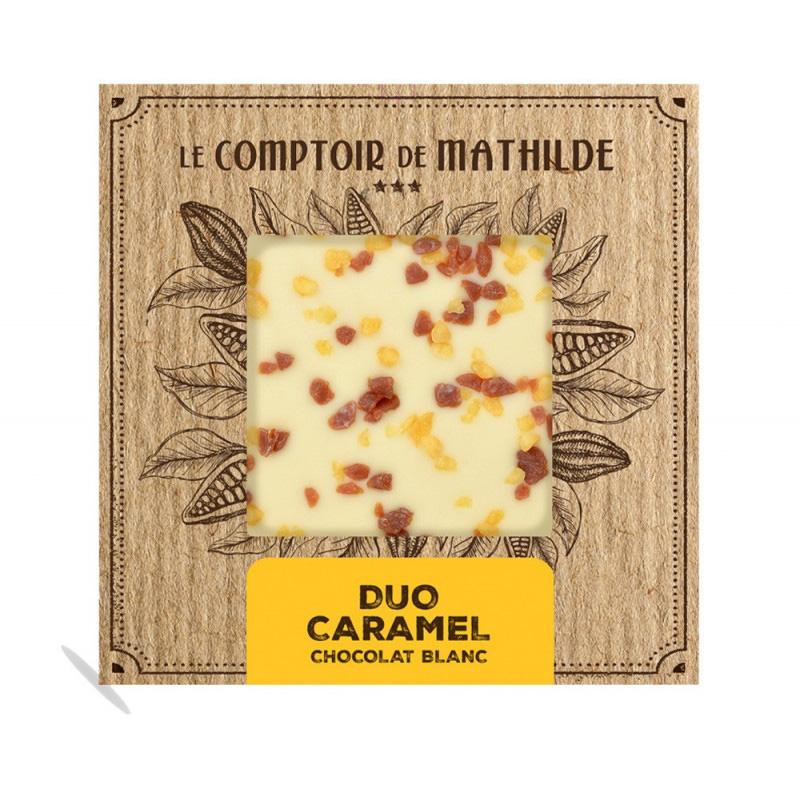 Tablette Chocolat blanc duo Caramel
