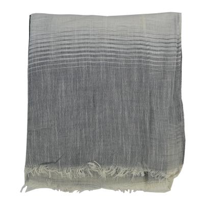 Foulard long bicolore (3)