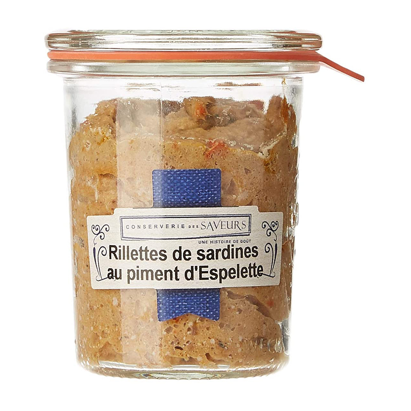 RILLETTES DE SARDINES PIMENT - 100G WECK