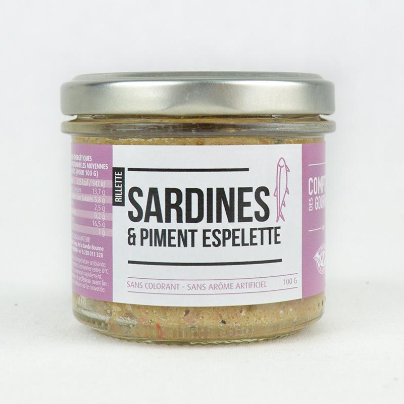 Rillettes de Sardines au piment d'Espelette