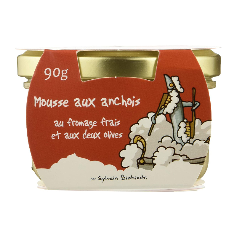 Mousse Anchois au Fromage Frais et Olives