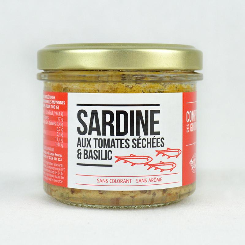 Tartinable de Sardines aux Tomates Séchées Et Basilic