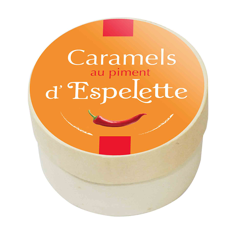 Boîte Ronde Caramels Piment d'Espelette