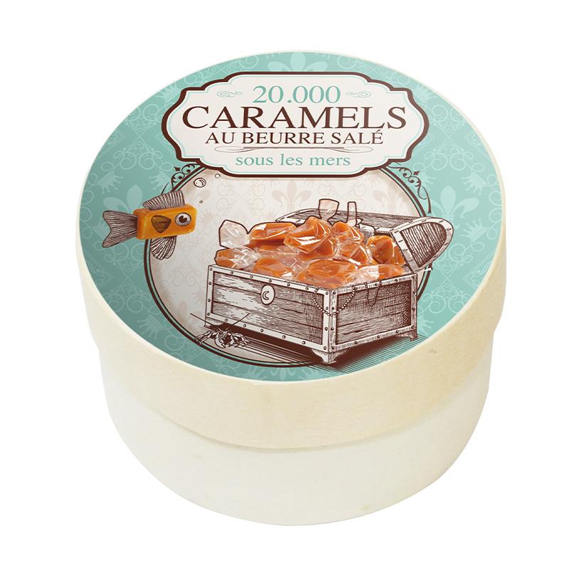 "Boîte Ronde Caramels ""Voyage Gourmand"""