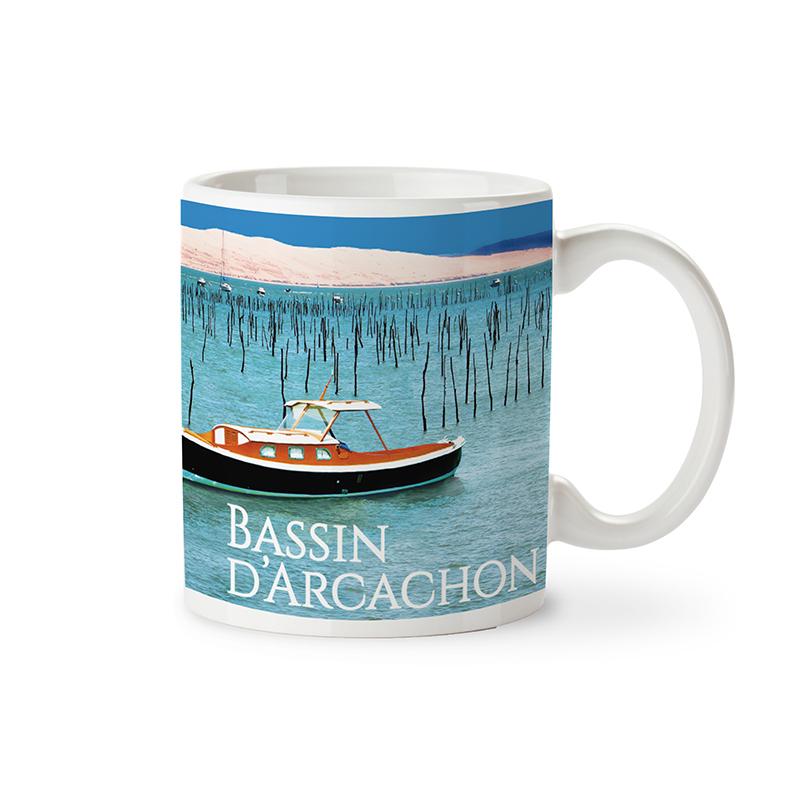 "Mug garni de Caramels au Beurre Salé ""Bassin d'Arcachon"""