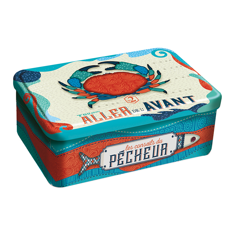"Boîte Assortiment Galettes et Palets ""Crabe Patchwork"""