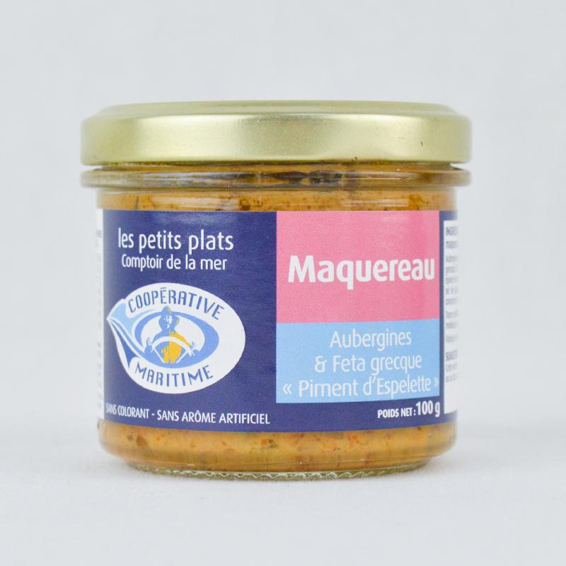 """Maquereau - Aubergines & Feta Grecque """"Piment Espelettes"""""""