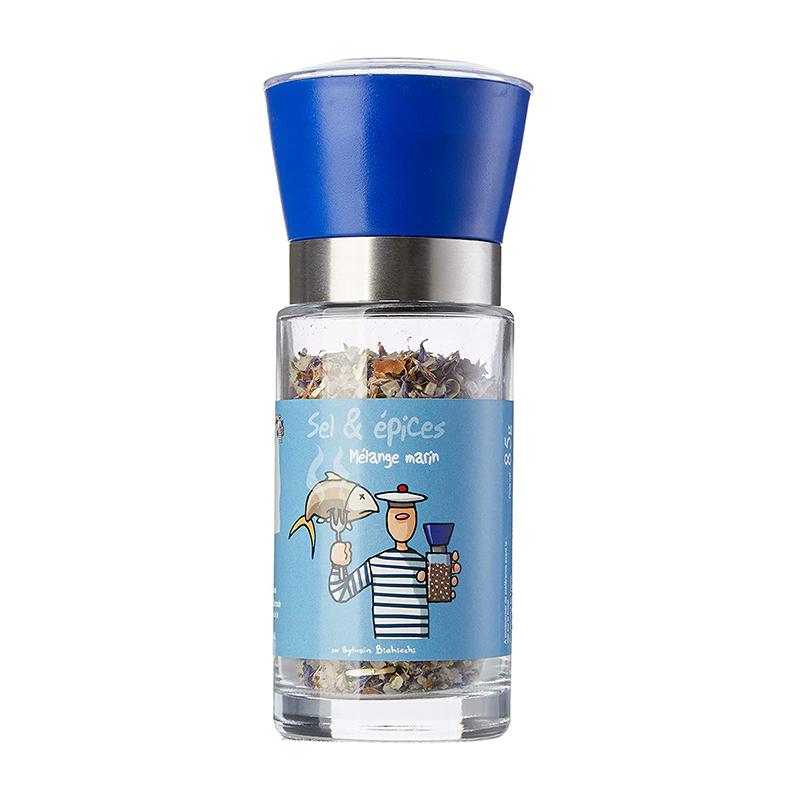 Moulin Droit Bleu Sels Épices Marins