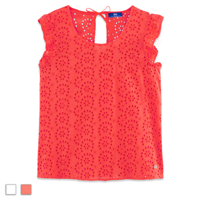 Blouse brodée Tbs Hollymis