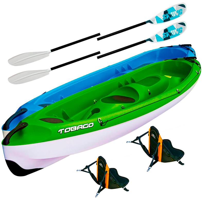 Pack Kayak Tobago Sport + Accessoires | Bleu ou Fashion