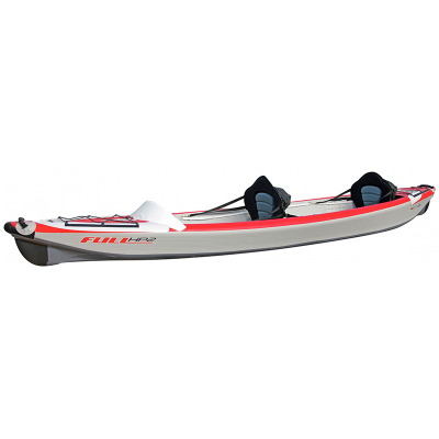 Pack Kayak Full HP 2 Personnes Gonflable + Accessoires - Blanc / Rouge (4)