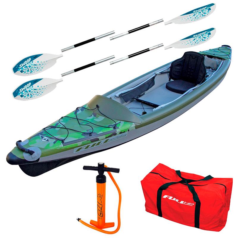 Pack Kayak Full HP Pêche Fishing + Accessoires - Vert