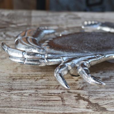 """Dessous de plat nickel """"Crabe"""" (4)"""