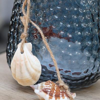 Photophore en verre avec coquillages (4)