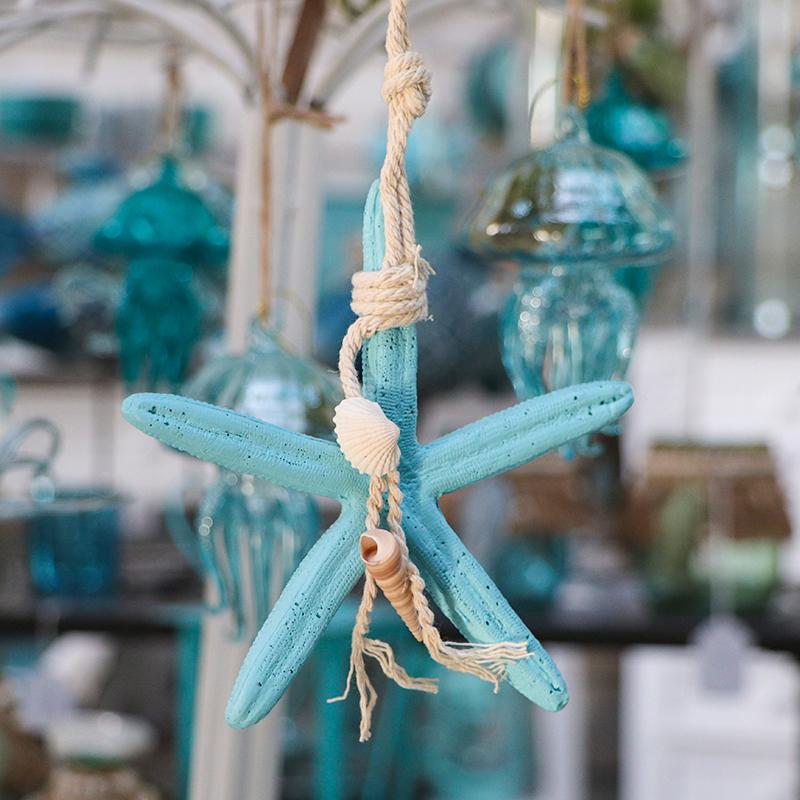 Etoile de mer à suspendre - turquoise