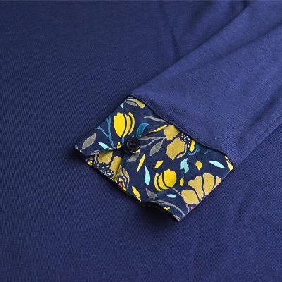 T-shirt à col fleuri Armor-Lux  76815 (5)