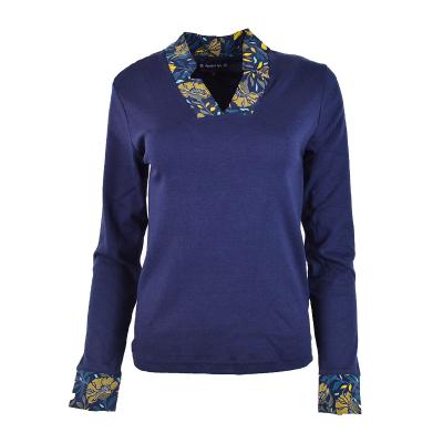 T-shirt à col fleuri Armor-Lux  76815 (2)