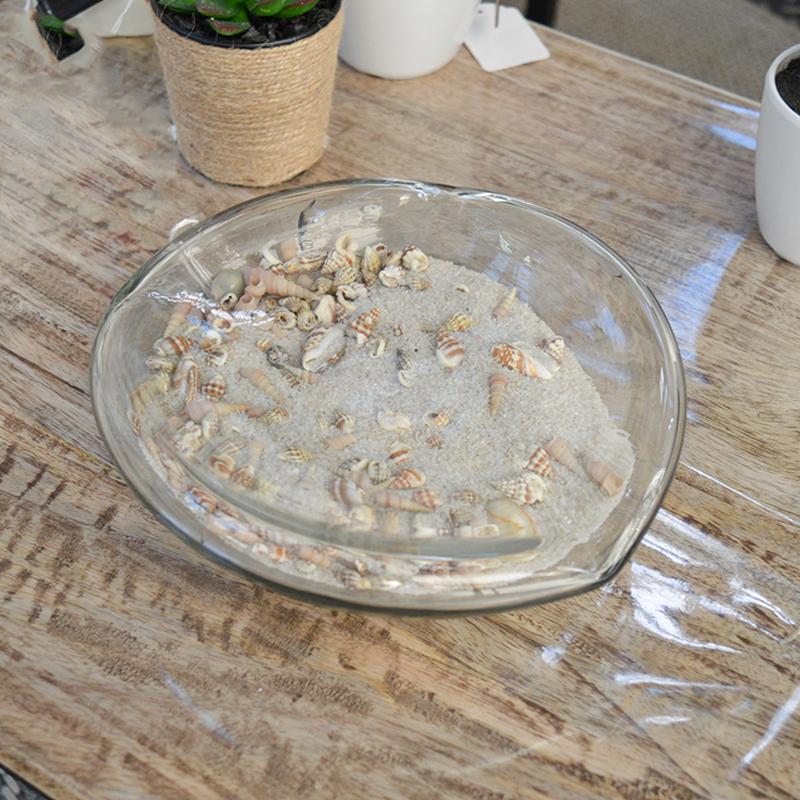 Vide poche en verre sable et coquillages