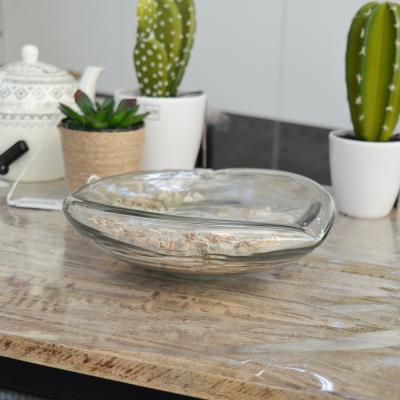 Vide poche en verre sable et coquillages (4)