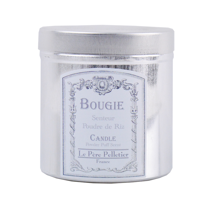 Bougie parfumée dans boite alu vintage - Poudre de Riz