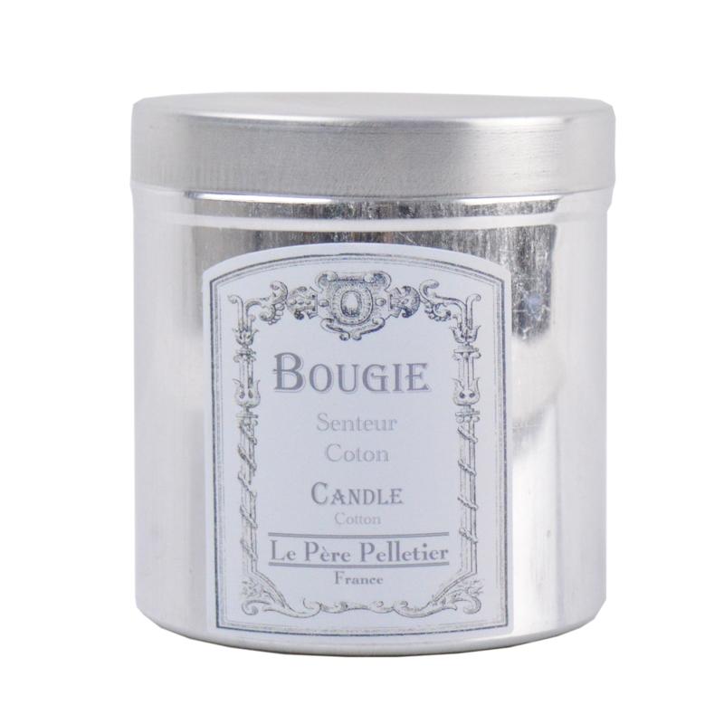 Bougie parfumée dans boite alu vintage - Coton