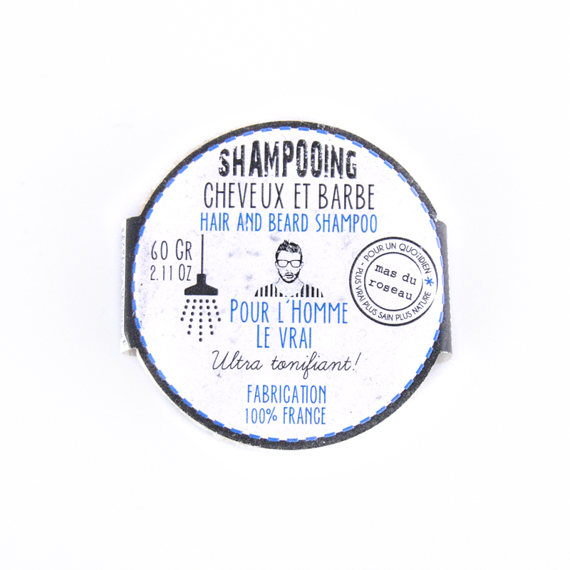 Shampoing Solide Homme - Cheveux et Barbe
