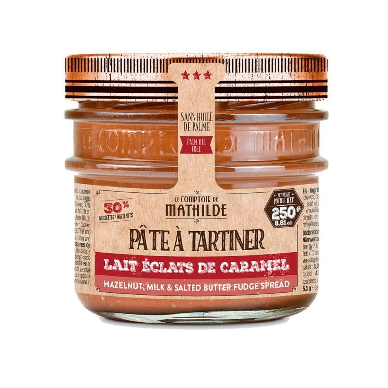 Pâte à Tartiner - Lait Noisette Éclat de Caramel Beurre Salé