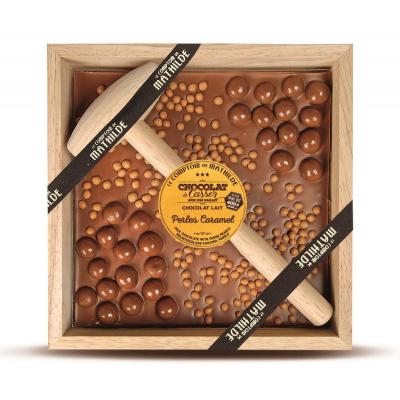 Chocolat à Casser - au Lait et Perles de Caramel (2)
