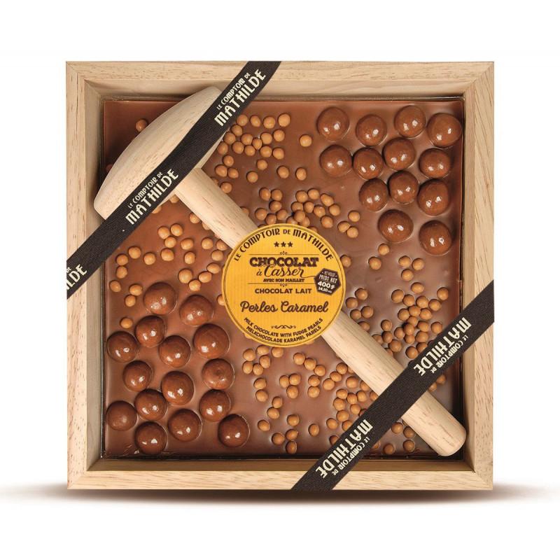 Chocolat à Casser - au Lait et Perles de Caramel