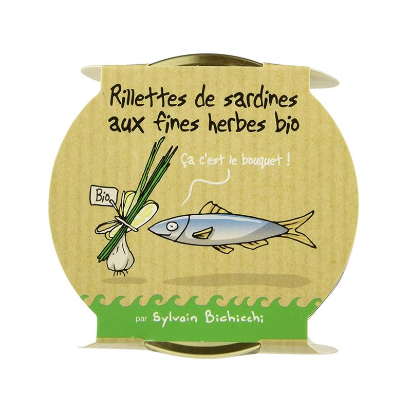 Rillettes de Sardines aux fines  herbes BIO