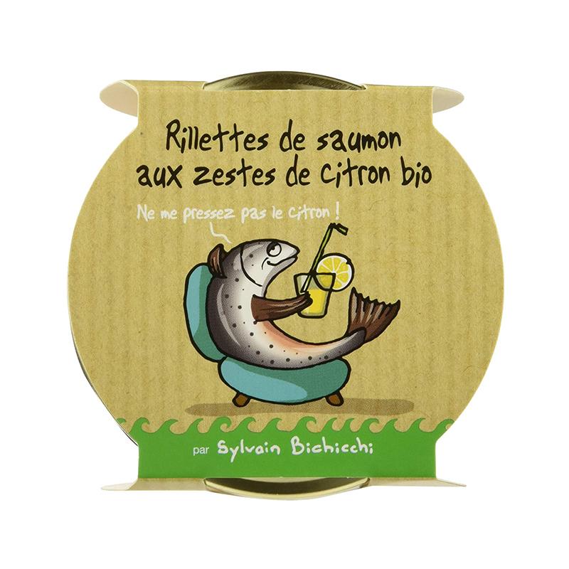 Rillettes de Saumon au zestes de citron BIO