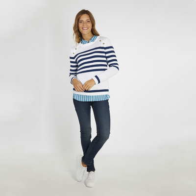 Pull marin col bouton Armor-Lux (5)