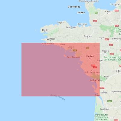 Carte marine Shom 6990L - De la Pointe de Penmarc'h à la Gironde (3)