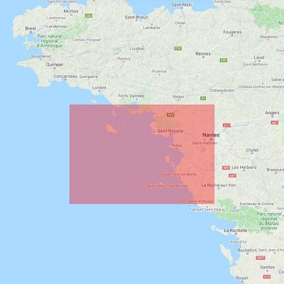 Carte marine Shom 7068L- De la presqu'île de Quiberon aux Sables-d'Olonne (3)