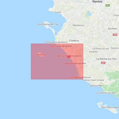 Carte marine Shom 7402L - De Saint-Jean-de-Monts aux Sables-d'Olonne (3)