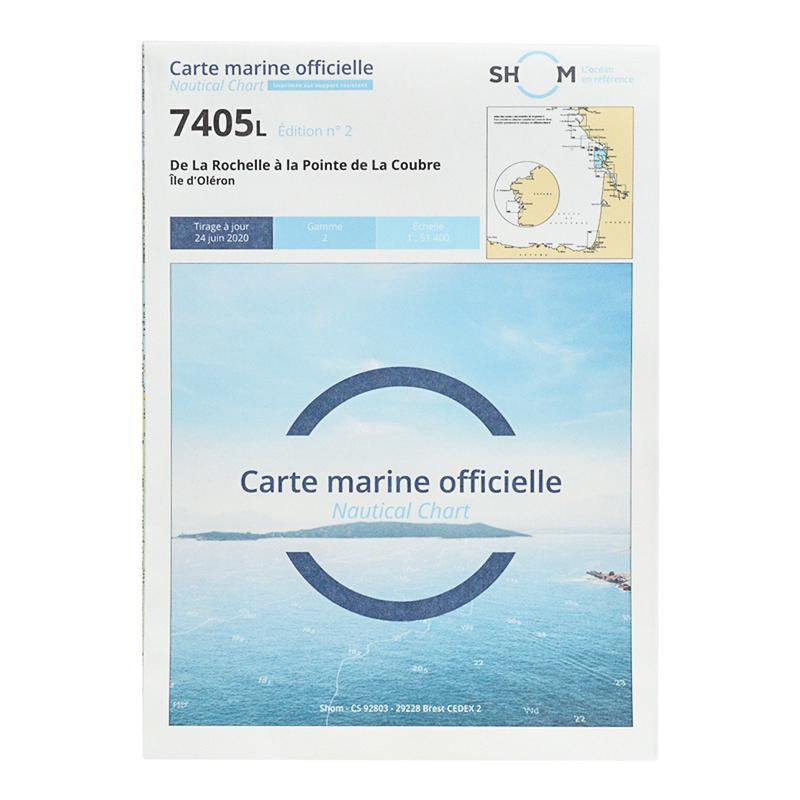 Carte marine Shom 7405L - De La Rochelle à la Pointe de La Coubre