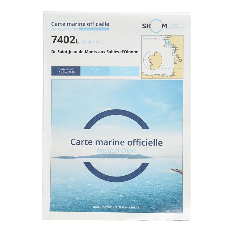 Carte marine Shom 7402L - De Saint-Jean-de-Monts aux Sables-d'Olonne