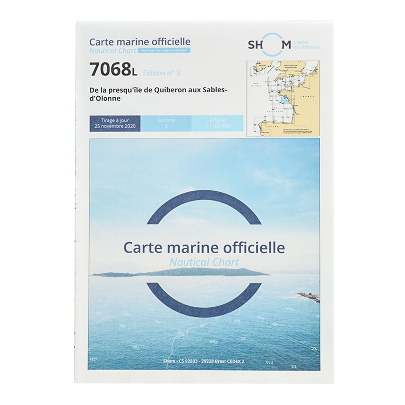 Carte marine Shom 7068L- De la presqu'île de Quiberon aux Sables-d'Olonne