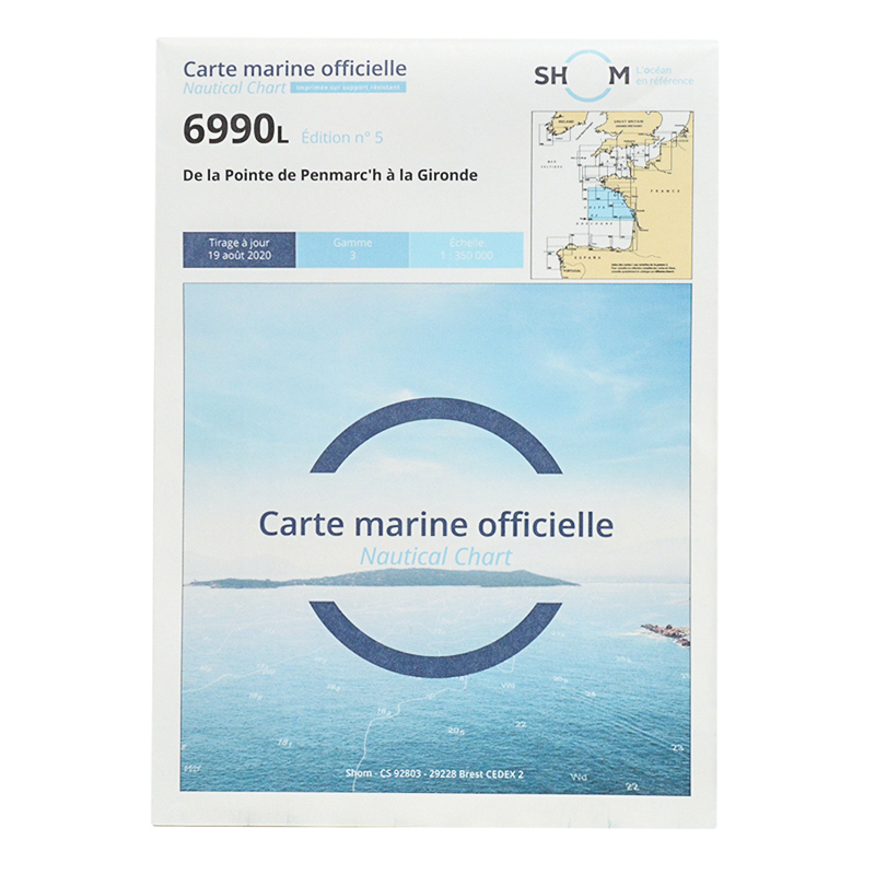 Carte marine Shom 6990L - De la Pointe de Penmarc'h à la Gironde