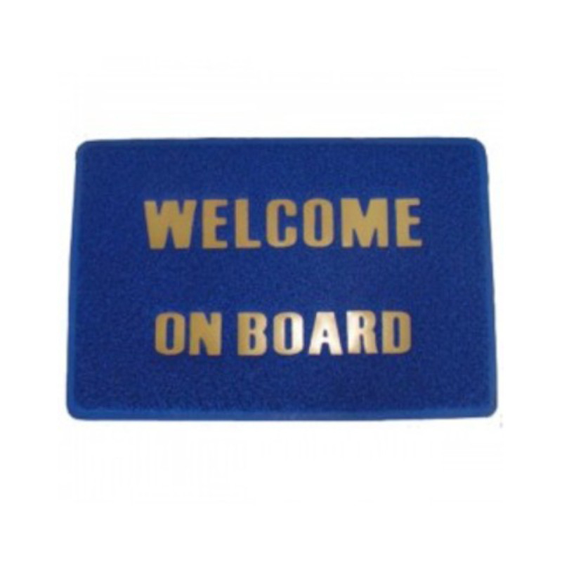 "Tapis ""Welcome on Board"" - Bleu"