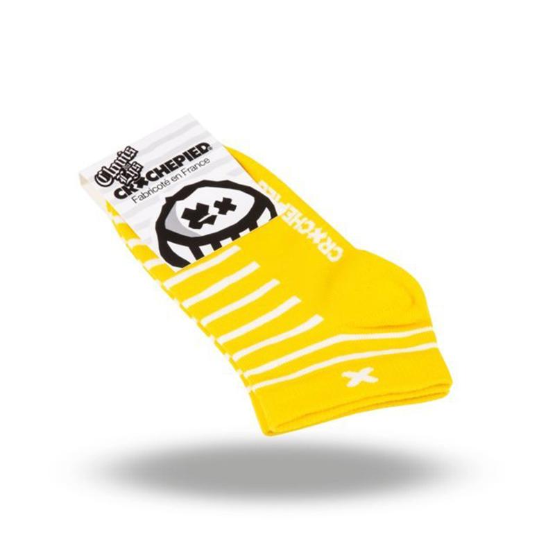 Socquettes rayées Crochepied Clovis du Lys
