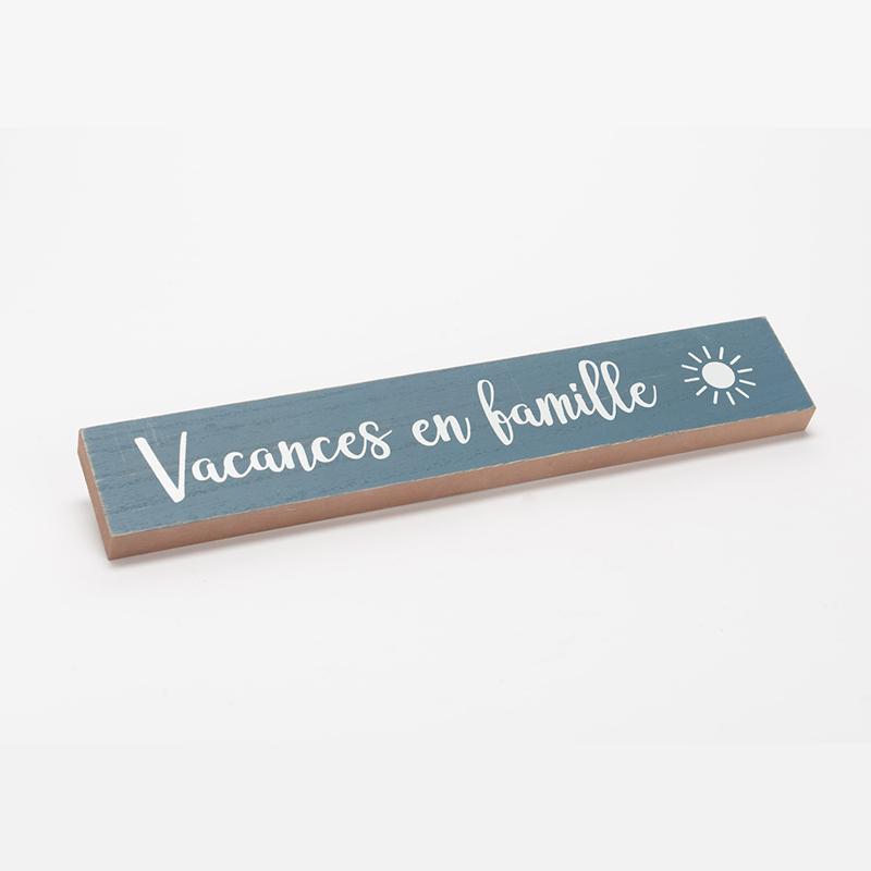 """Plaque murale """"Vacances en Famille"""""""