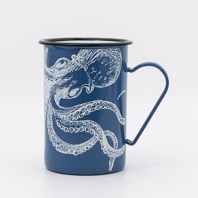 Mug long émaillé Poulpe