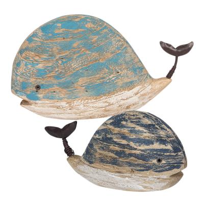 Baleine en bois à poser