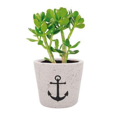 Pot à fleurs craquelé motif...