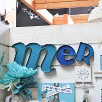 """Lettres murales """"Mer"""""""