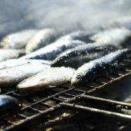 sardines grillées au gros sel